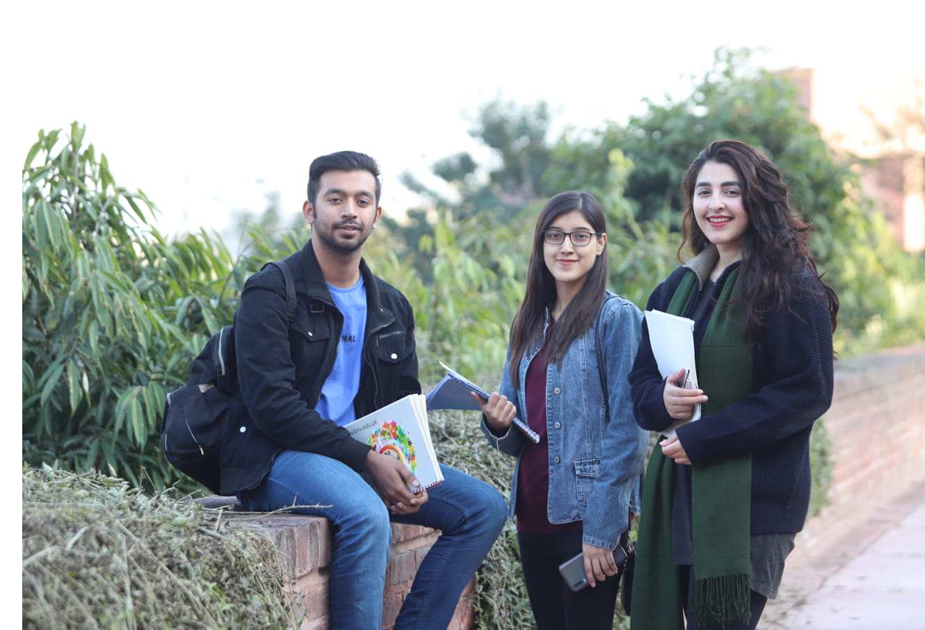 Happy BNU students on campus